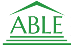 the word able in a green house